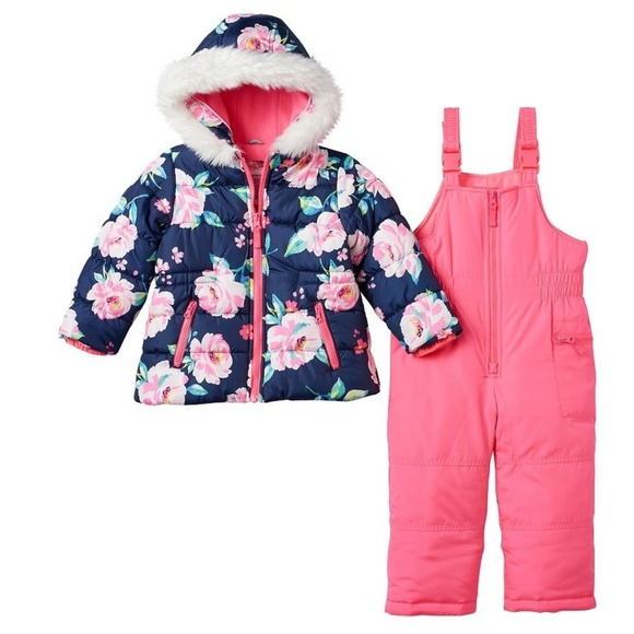 NWT Baby Girls Snow Coverall Size 18 Months